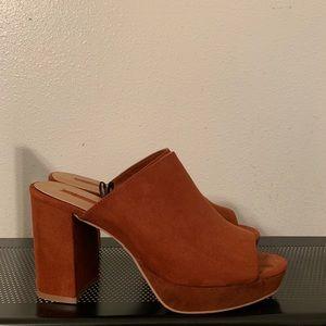 Forever21   Orange Red Mules